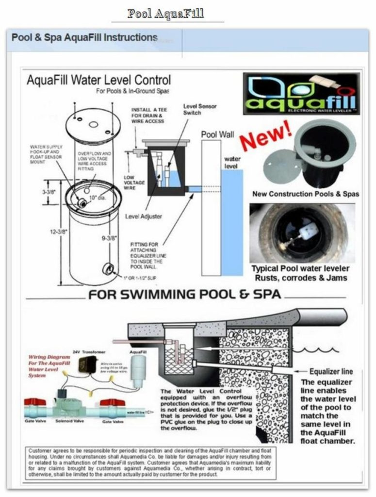 Hot Tub Spa Water Level Controller